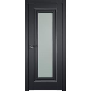 Дверь Профиль 24U Черный матовый - со стеклом