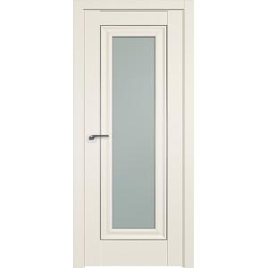 Дверь Профиль 24U Магнолия сатинат - со стеклом