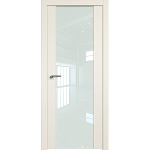 Дверь Профиль Дорс 110U Магнолия сатинат - со стеклом