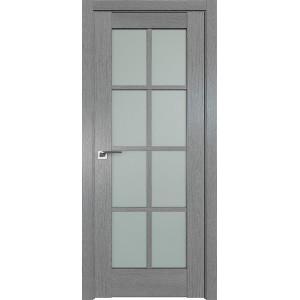 Дверь Профиль дорс 101XN Грувд серый - со стеклом