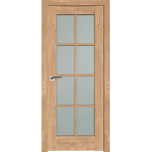 Дверь Профиль дорс 101XN Каштан натуральный - со стеклом