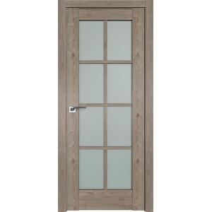 Дверь Профиль дорс 101XN Каштан темный - со стеклом