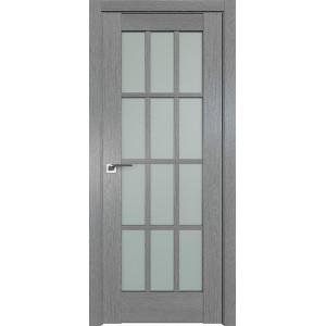 Дверь Профиль дорс 102XN Грувд серый - со стеклом