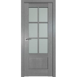 Дверь Профиль дорс 103XN Грувд серый - со стеклом