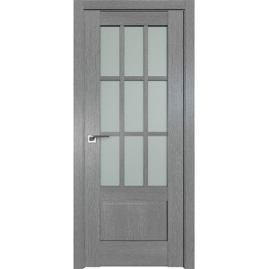 Дверь Профиль дорс 104XN Грувд серый - со стеклом