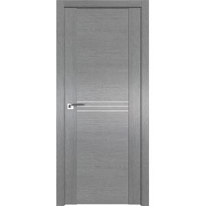 Дверь Профиль дорс 150XN Грувд серый - глухая