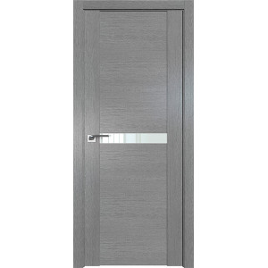 Дверь Профиль дорс 2.01XN Грувд серый - со стеклом