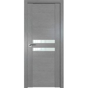 Дверь Профиль дорс 2.03XN Грувд серый - со стеклом