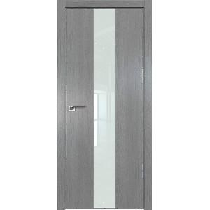 Дверь Профиль дорс 25ZN Грувд серый - со стеклом