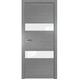 Дверь Профиль дорс 34ZN Грувд серый - со стеклом